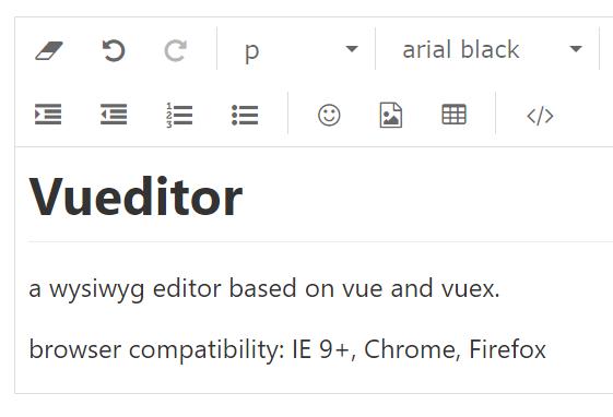 WYSIWYG Editor For Vue js - Vueditor - Vue js Script