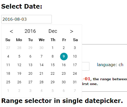 A Datepicker Component For Vue Js Vue Js Script