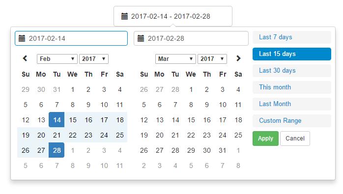 Vue Date Range Picker Component - Vue js Script