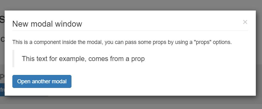 Multiple Modal Window Component For VueJS 2 - Vue js Script