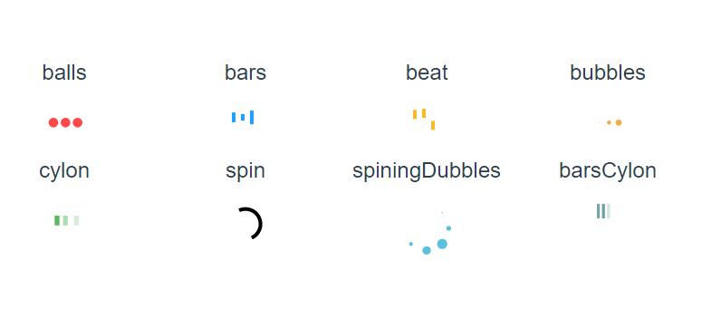 SVG Loading Spinners For Vue js - Vue js Script