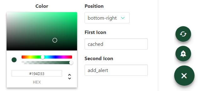 Floating Action Button For Vue js - Vue js Script