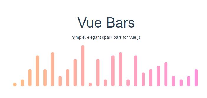 Simple Elegant Spark Bars For Vue js - Vue js Script