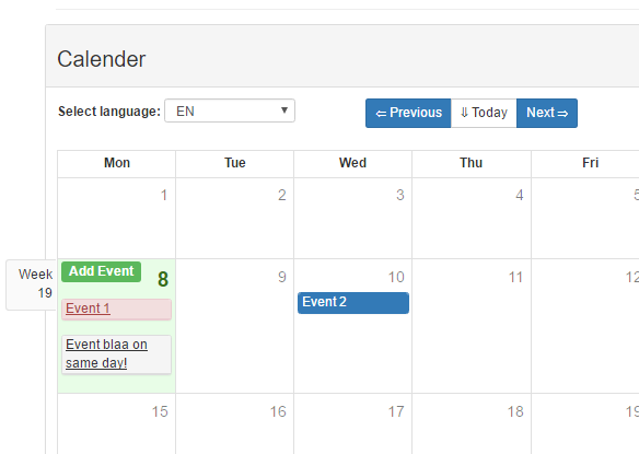 Vue Bootstrap Calendar Component - Vue js Script