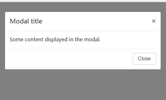 bootstrap 4 modal