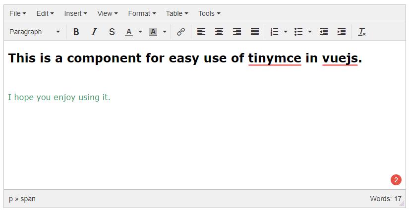 Vue js Tinymce Editor Component - Vue js Script