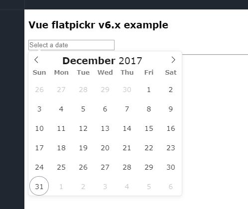 Vue js Component for Flatpickr Datetime Picker-Codespots com