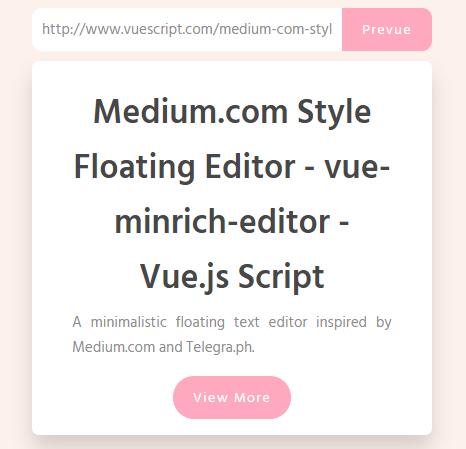 Link Previewer With Vue js – link-prevue-Codespots com