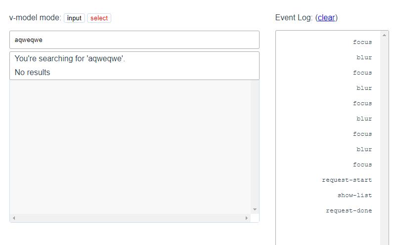 Autocomplete Component For Vue.js