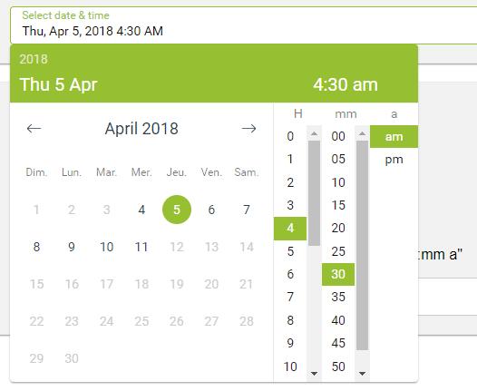 Vue js CTK Date Time Picker Component - Vue js Script