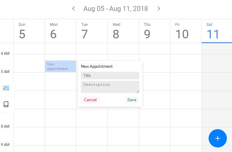 Full Featured Calendar Component For Vue js - kalendar - Vue js Script