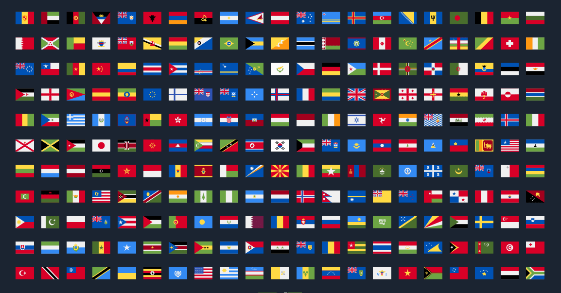 230  Country Flags For Vue Js - Vueflags