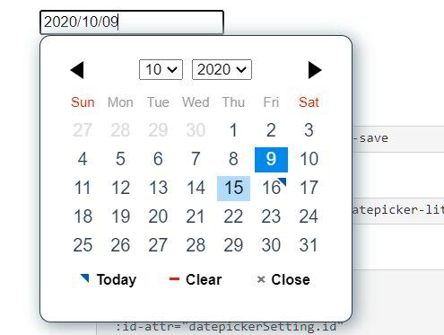 Lite Date Picker Component For Vue 3