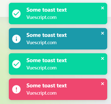 Tiny Toast & Snackbar Component For Vue 3